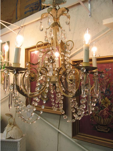 Our new antique chandelier!