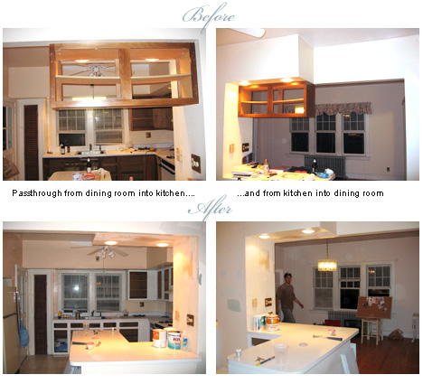 kitchen cabinet before and after removal