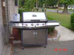 our new stainless steel grill?