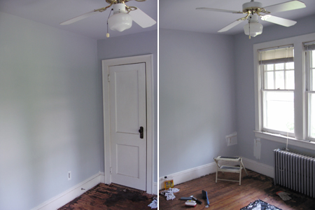 painted guestroom
