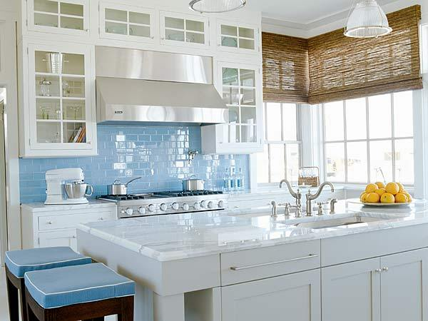Kitchen Colored Backsplash