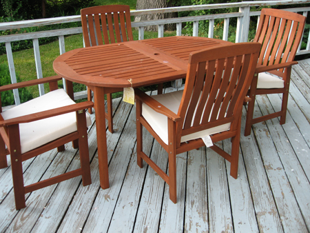 Our new walmart patio furniture