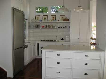 Simple Subway White Kitchen