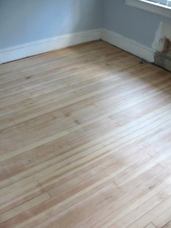 guest room floor sanded