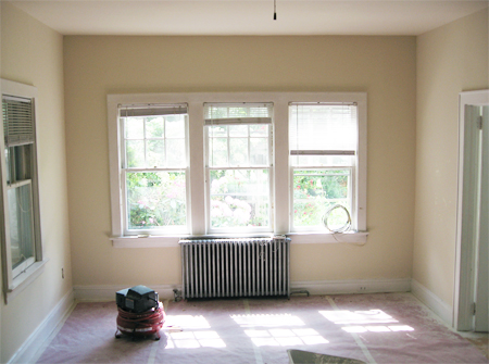 Becoming Home Living Room Gets Its Crown Moldings Or Is